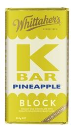 Whittakers: K-Bar Pineapple - Milk Chocolate Block (250g)