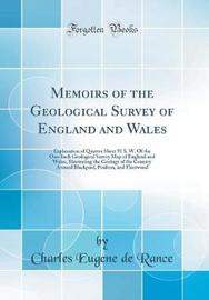 Memoirs of the Geological Survey of England and Wales by Charles Eugene De Rance image
