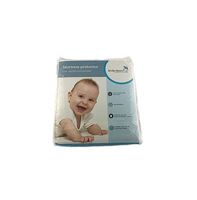 Brolly Sheets: Waterproof Mattress Protector - Cot (Knit Fitted) image