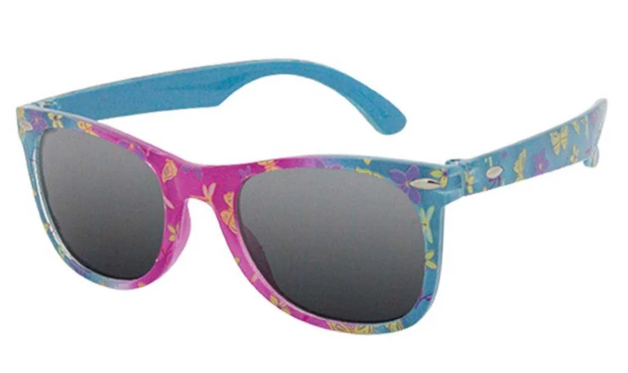 Black Ice: Kids K5840 Sunglasses - Pink & Blue/Smoke