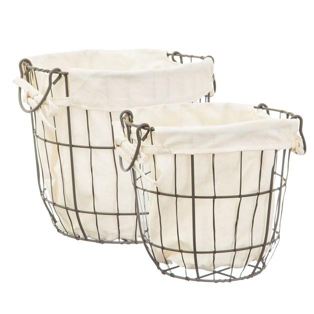 Sass & Belle: Round Wire Storage Baskets With Lining