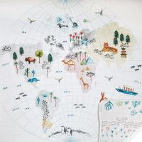 Aden + Anais: Classic Dream Blanket - Around The World - Engineered Map