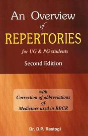 Overview of Repertories for UG and PG Students by D.P. Rastogi