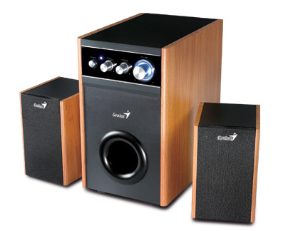 Genius HF 1250X Speakers Wood