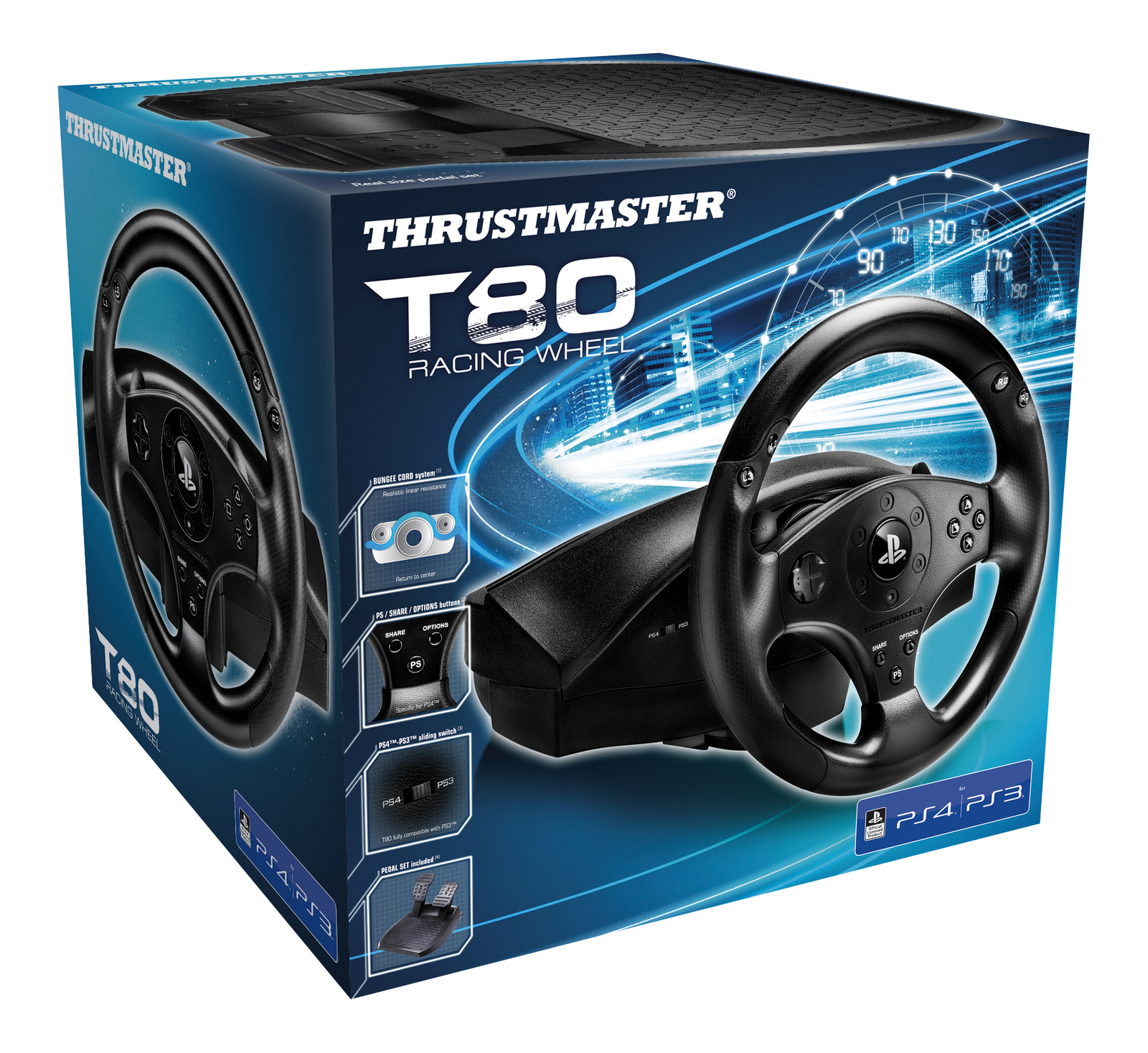 Thrustmaster PS4 Official T80RS Racing Wheel for PS4 image