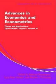 Advances in Economics and Econometrics: Series Number 37: Volume 3 image