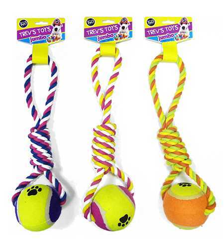 Jumbo Rope & Ball Dog Tug image