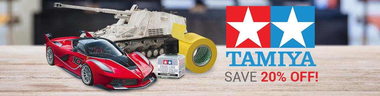 Save 20% off Tamiya this month!