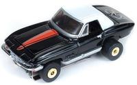 Auto World ThunderJets Ultra-G R9 '67 Corvette Roadster Slot Car - Black