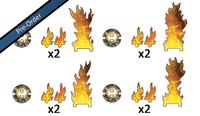 Flames of War: Destroyed Markers (x8)