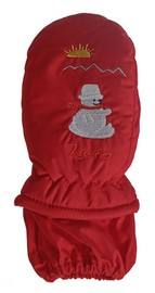 Mountain Wear: Red Zero Kids Mittens (Large)