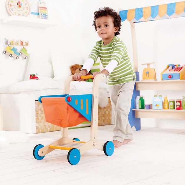Hape Wooden Shopping Cart Toy At Mighty Ape Nz