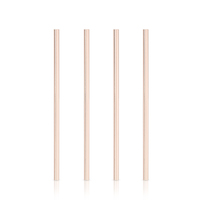Viski: Belmont Wide Copper - Cocktail Straws (Set of 4)