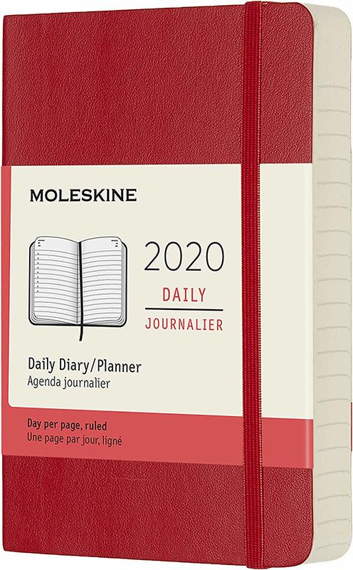 Moleskine: 2020 Diary Pocket Soft Cover 12 Month Daily - Scarlet Red