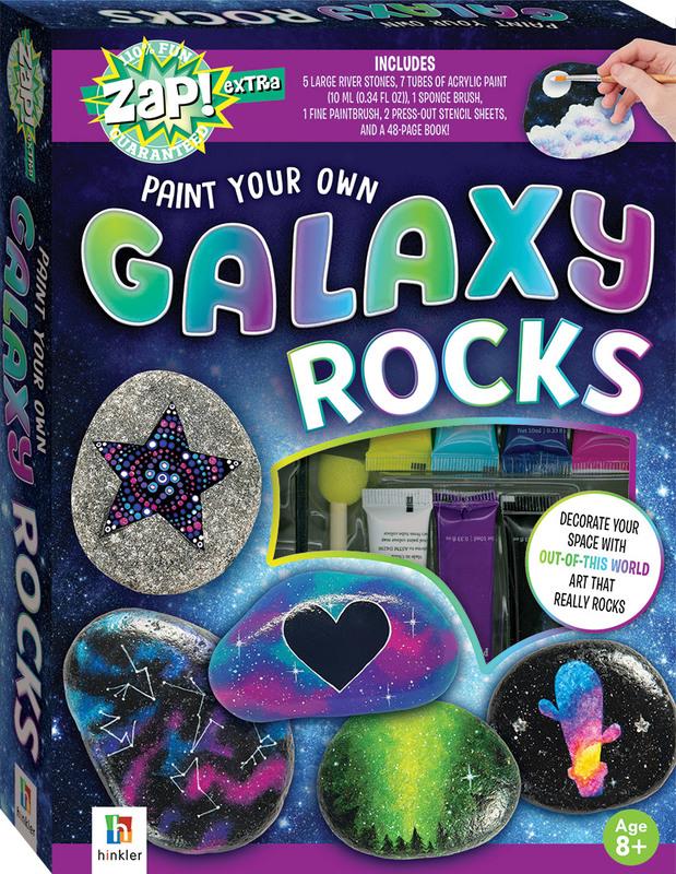 Hinkler: Zap! Extra - Galaxy Rocks Painting Kit