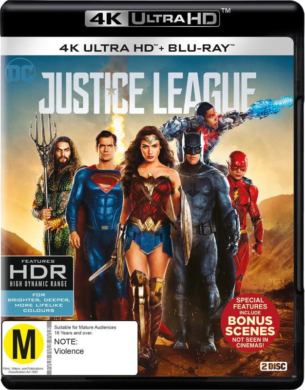 Justice League (4K UHD + Blu-ray) on UHD Blu-ray
