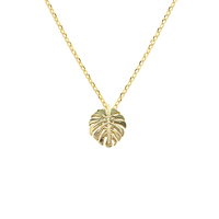 Short Story: Necklace Monstera Leaf Gold