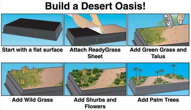 Woodland Scenics Desert Oasis Diorama Kit | at Mighty Ape