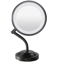 Conair Adorn LED Lighted Mirror - Matte Black (5x/1x Magnification)
