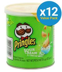 Pringles Grab & Go Small SC & Onion 40g (12 Pack)