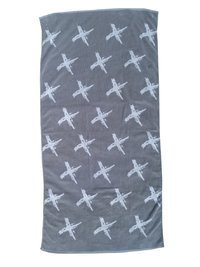 Towelling It XL Beach Towel - Grey Cross