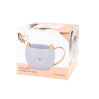 Chloe Grey Cat Mug