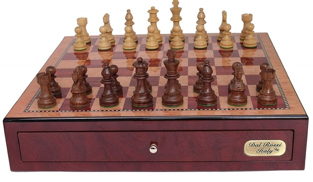 "Dal Rossi: Staunton - 18"" Wooden Chess Set (Mahongany/Sheesham)"