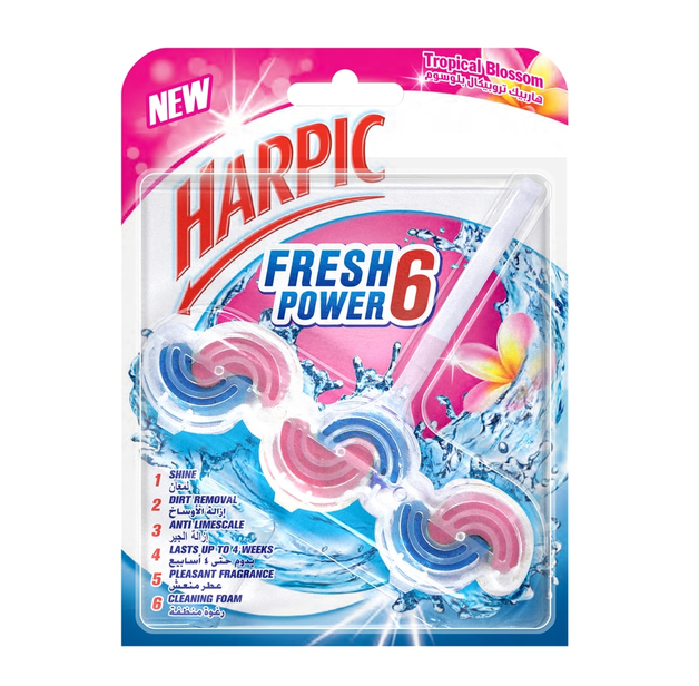 Harpic: Fresh Power Toilet Cleaner Tropical Blossom 39g