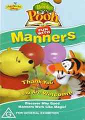Winnie The Pooh - Book of Pooh - Fun With Manners on DVD