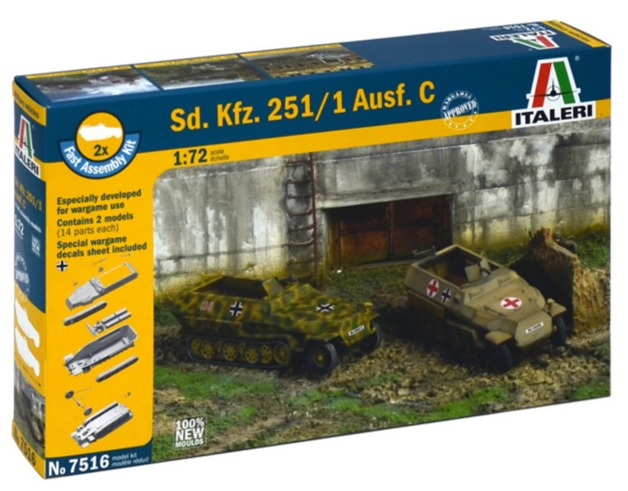 Italeri: 1/72 SD.KFZ.251/1 AUSF.D - Fast Assembly Kit