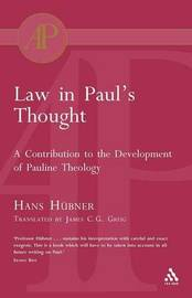 Law in Paul's Thought by Hans Hubner image