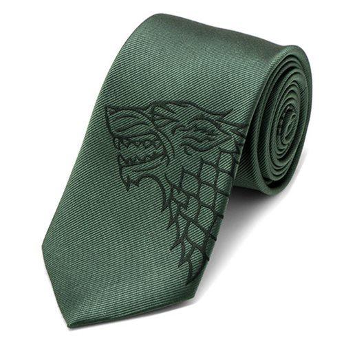 Game of Thrones Stark Direwolf Green Men's Tie image