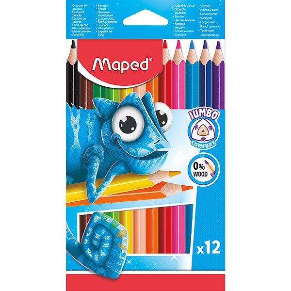 Maped: Pulse Jumbo Colouring Pencils (Pack 12)