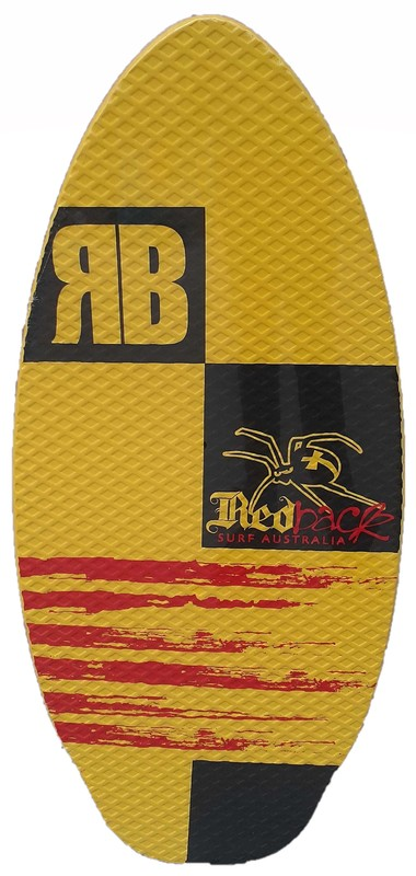 """Redback Soft Top Skimboard 41"""" with Foam Traction Pad (Assorted Designs)"""
