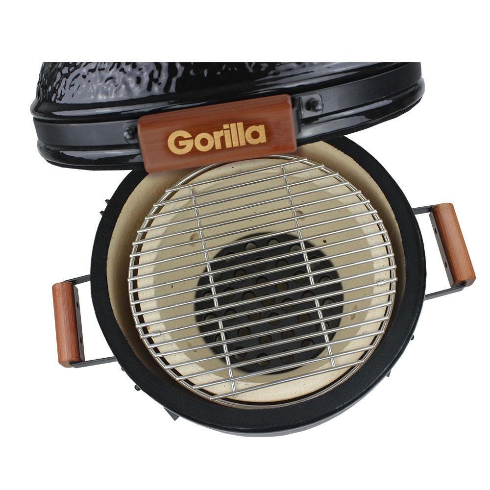 "Gorilla Kamado Ceramic Portable Grill BBQ (Black) | 16"" image"