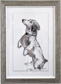 LaVida: Framed Puppy Drawing 3 image
