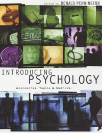 Introducing Psychology: Approaches, Topics and Methods by Donald C. Pennington image