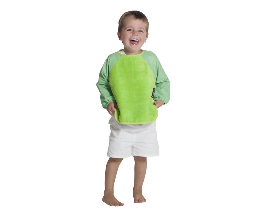 Mum 2 Mum Sleeved Wonder Bib (6-18 Months) - Lime image