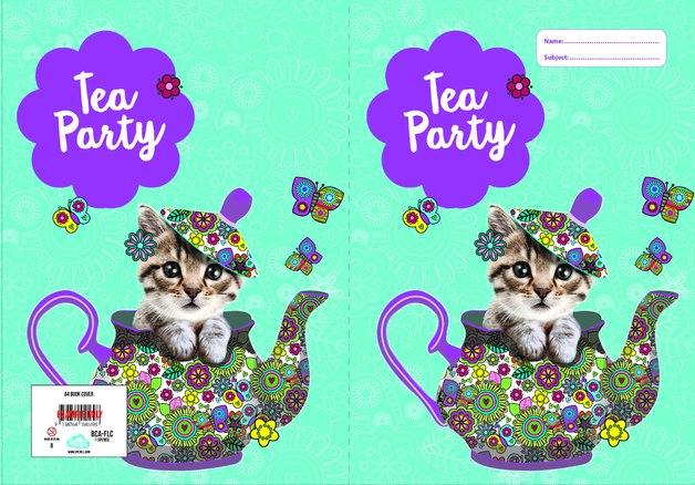 Spencil: A4 Book Cover - Flutterby Cat