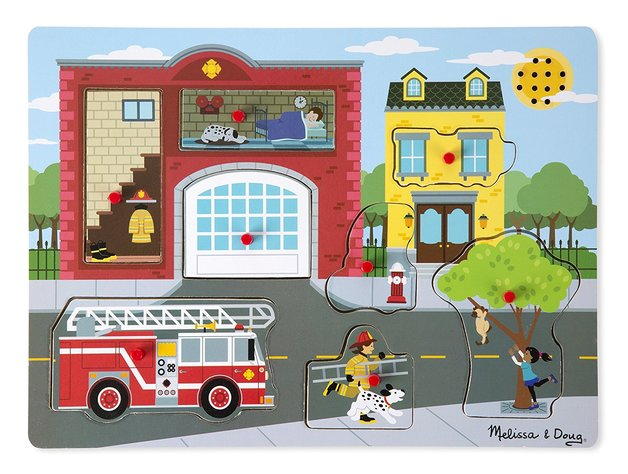 Melissa & Doug: Around the Fire Station - Sound Puzzle