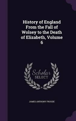 History of England from the Fall of Wolsey to the Death of Elizabeth, Volume 6 by James Anthony Froude