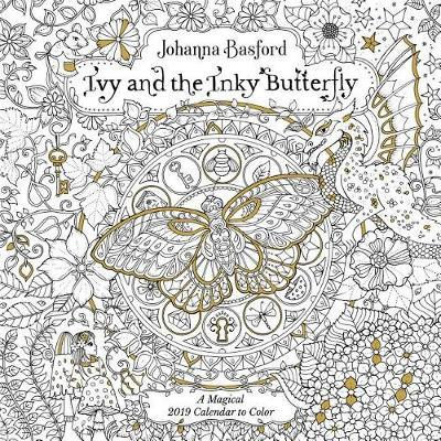 ivy and the inky butterfly 2019 coloring wall calendar by johanna basford image