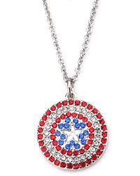 Marvel: Captain America - Bling Shield Pendant Necklace