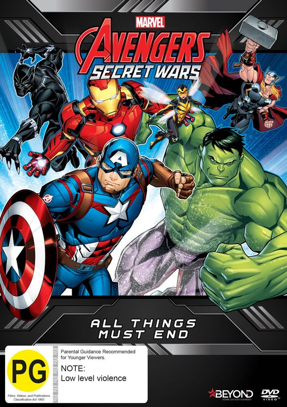 Avengers Secret Wars: All Things Must End on DVD