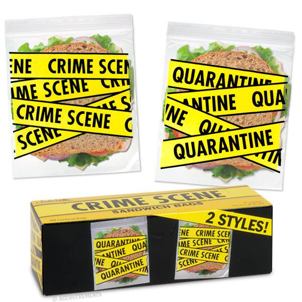 Crime Scene Sandwich Bags