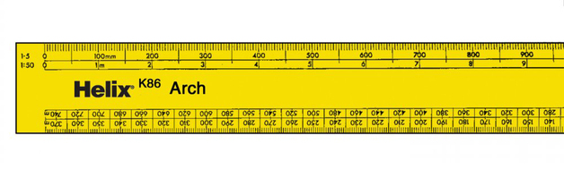 Helix 300mm K85X10 Architects Scale Ruler