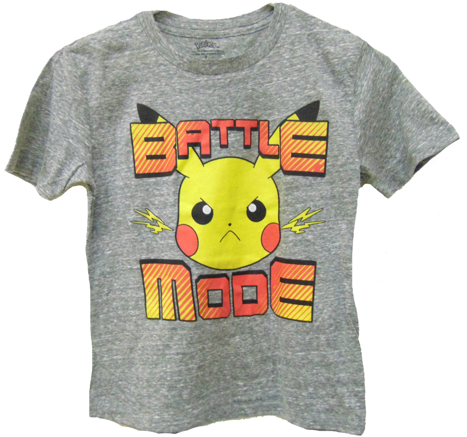 Pokemon Battle Mode T Shirt (Size 7) image