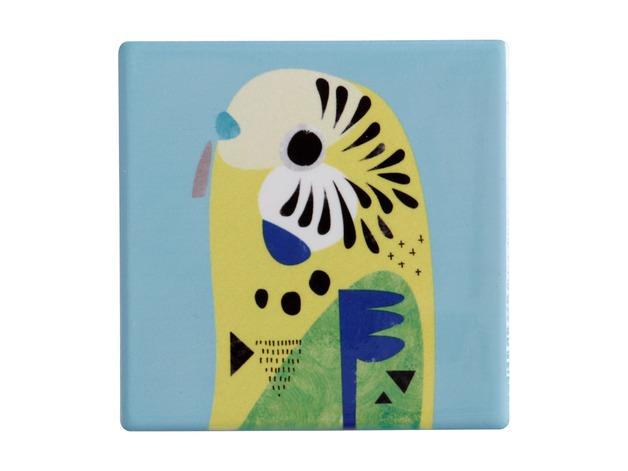 Maxwell & Williams: Pete Cromer Ceramic Square Tile Coaster (Budgerigar)