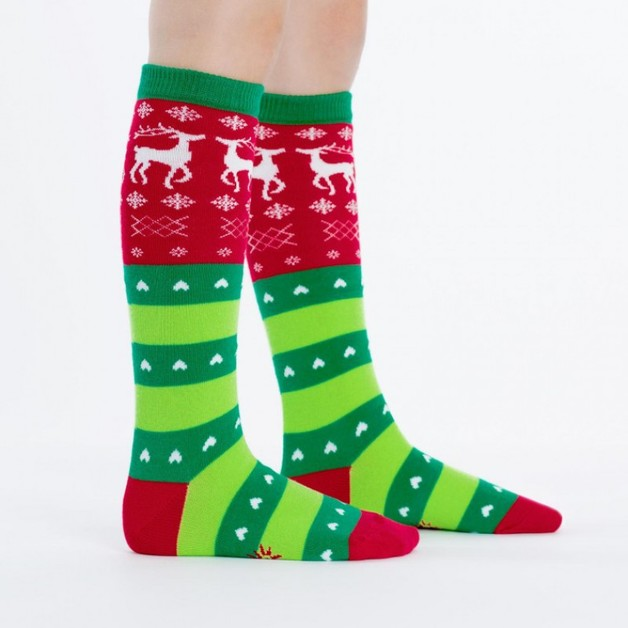 Sock It to Me: Junior Knee - Tacky Holiday Sweater (Age 7-10)