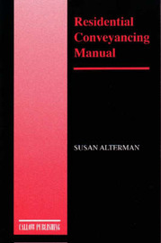 Residential Conveyancing Manual by Susan Alterman image